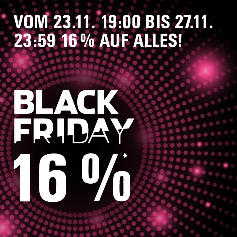 Black Friday Sale: Das ganze Wochenende 16% auf alles!