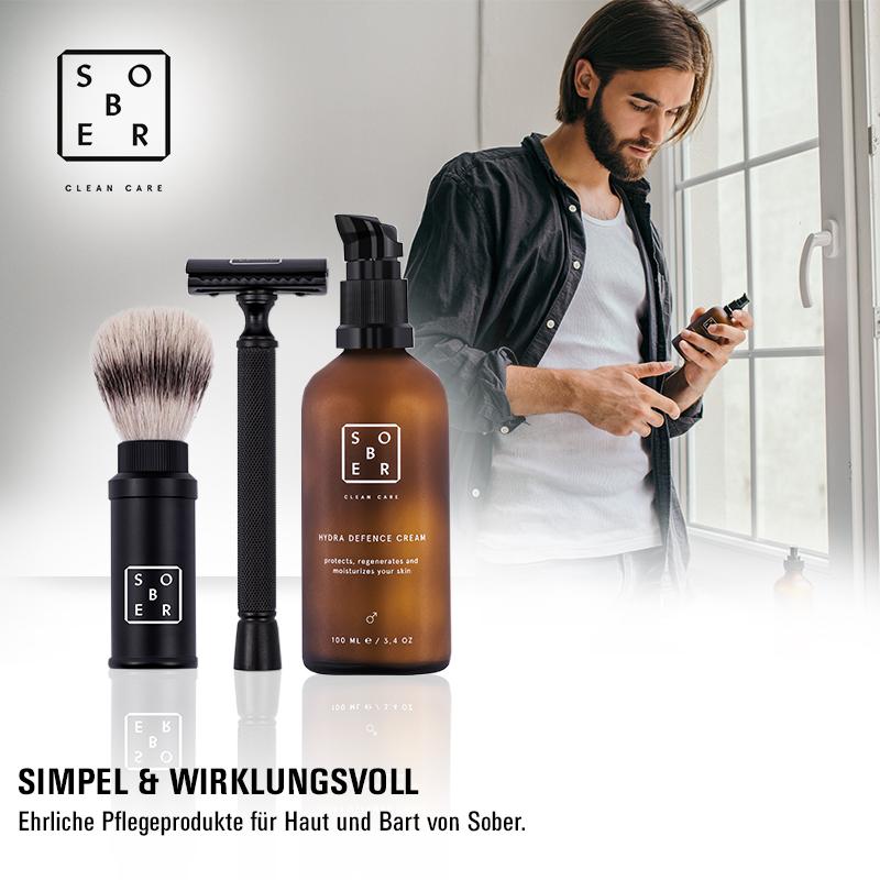 May we introduce: Stylische Bartpflege für den Mann von Sober!