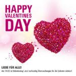 Be(auty) my Valentine: 13% Valentinstags-Rabatt auf unser gesamtes Sortiment!