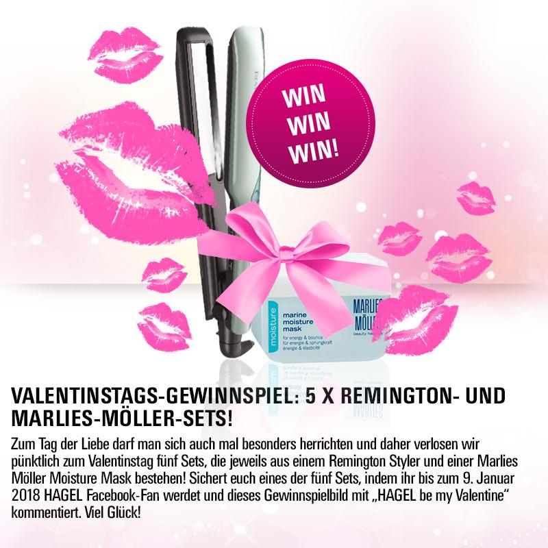Valentinstags-Gewinnspiel: 5 X Remington- und Marlies-Möller-Sets!