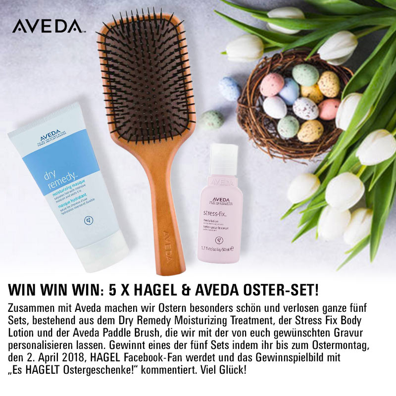 Oster-Gewinnspiel auf Facebook: 5 X personalisierte Aveda Oster-Sets!