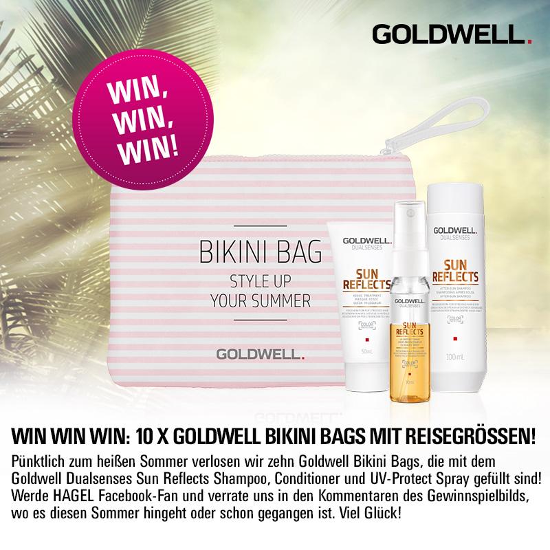 Facebook- und Instagram-Gewinnspiel: Goldwell Bikini Bags mit Reisegrößen!