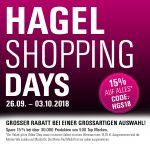 Die großen HAGEL Shopping Days: 15 Prozent Rabatt auf alles!