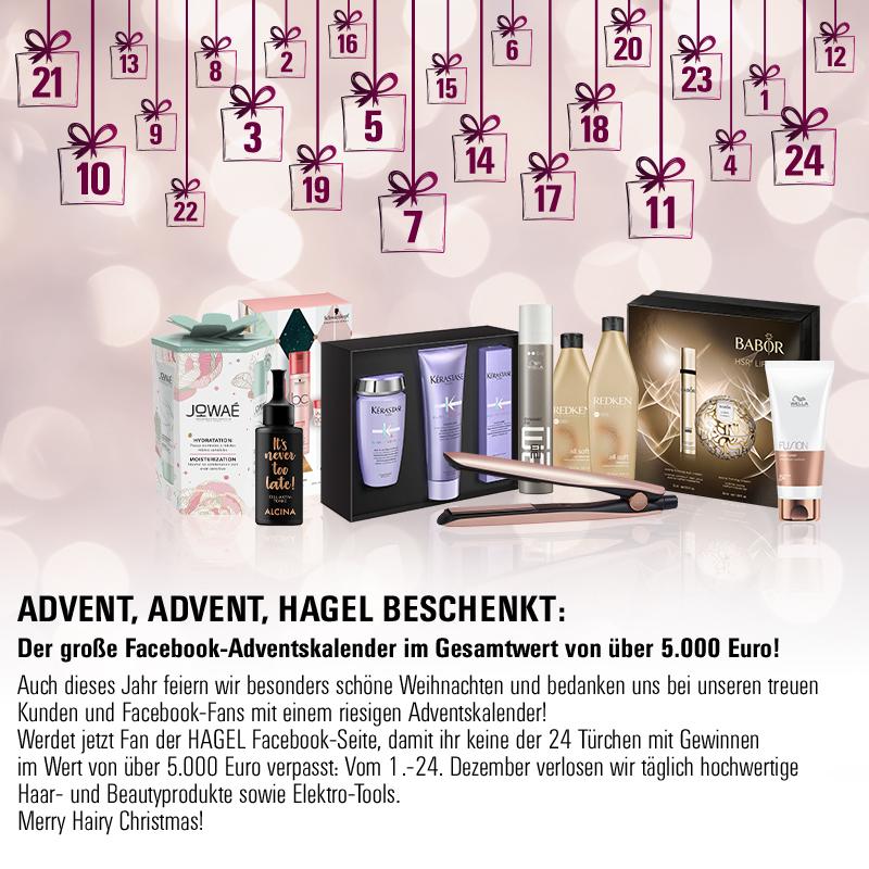 24 Facebook-Gewinnspiele: Der große HAGEL Facebook-Adventskalender 2019!